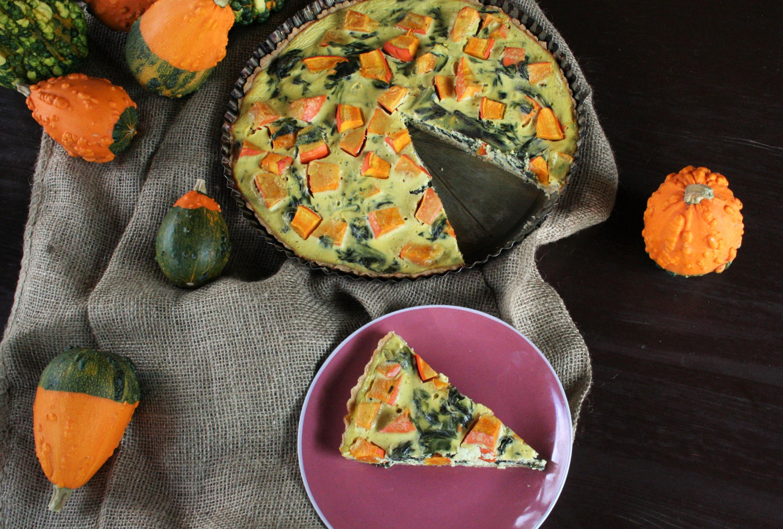 Celozrnný koláč s dýní a mangoldem