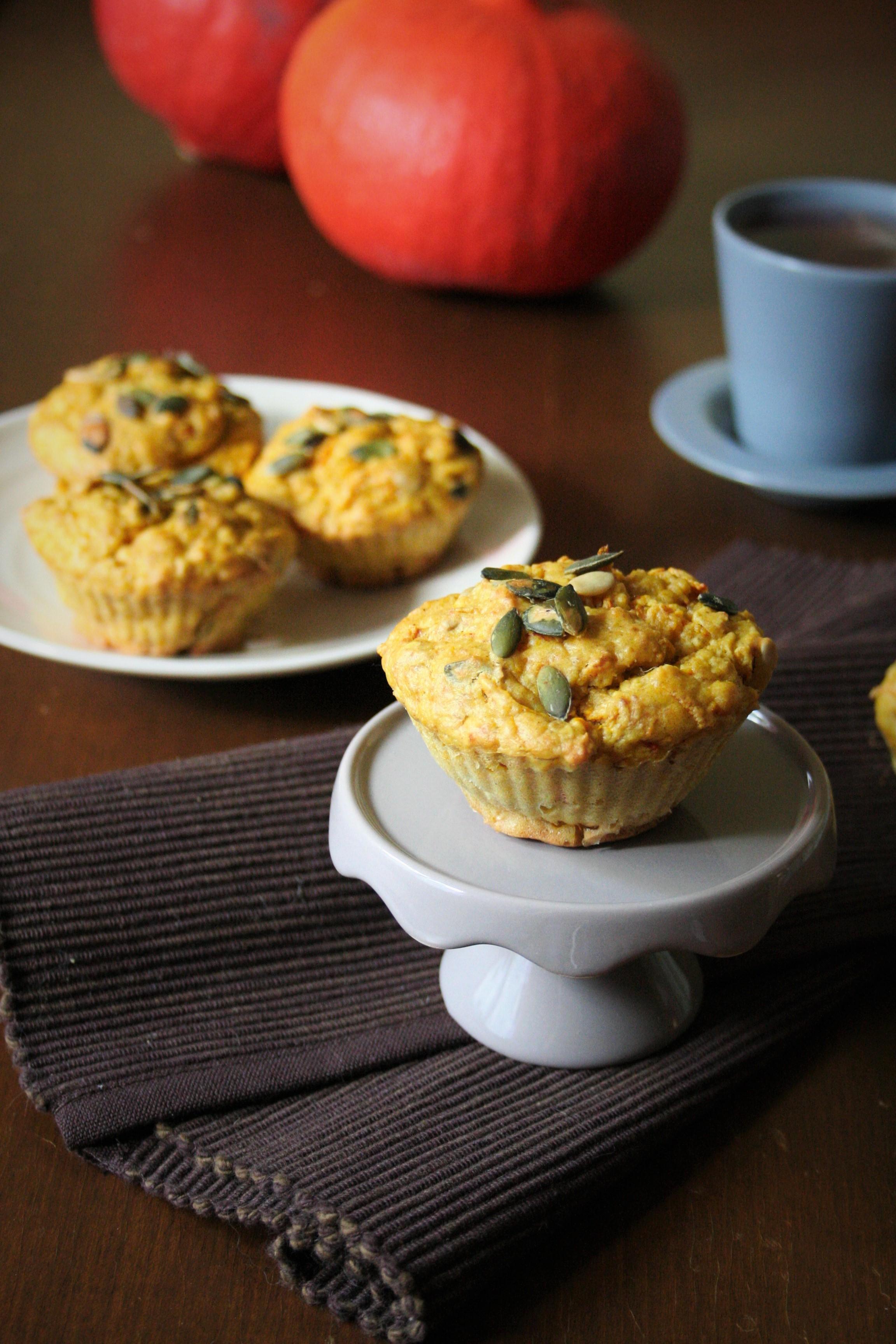 Celozrnné dýňové muffiny