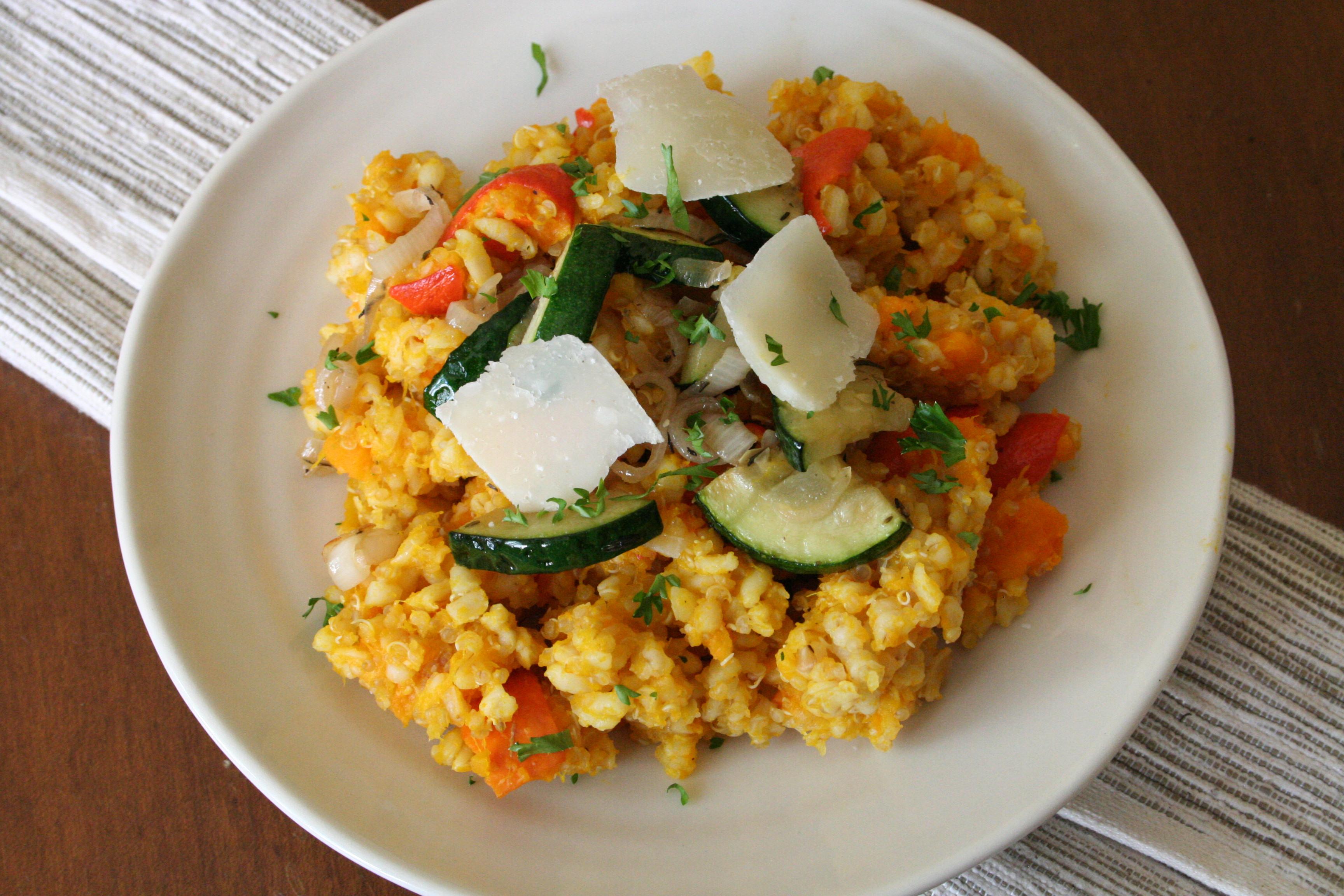 Dýňový bulgur s quinoou