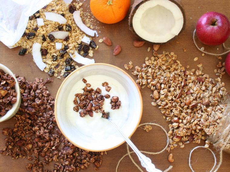 3x domácí granola + rozdíl mezi domácí a průmyslovou výrobou
