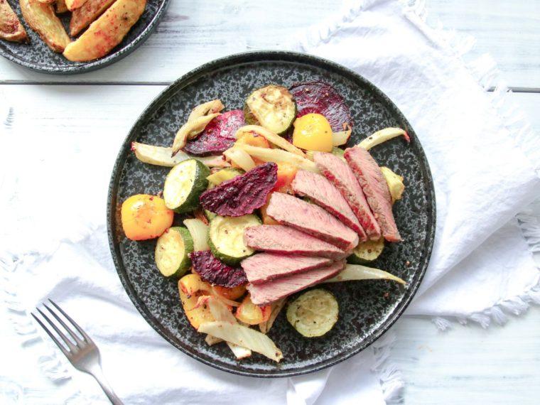 Pečená zelenina s filírovaným steakem