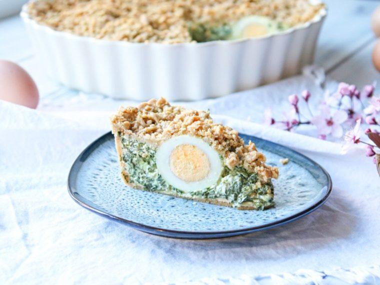 Torta Pasqualina – velikonoční špenátový koláč s vejci