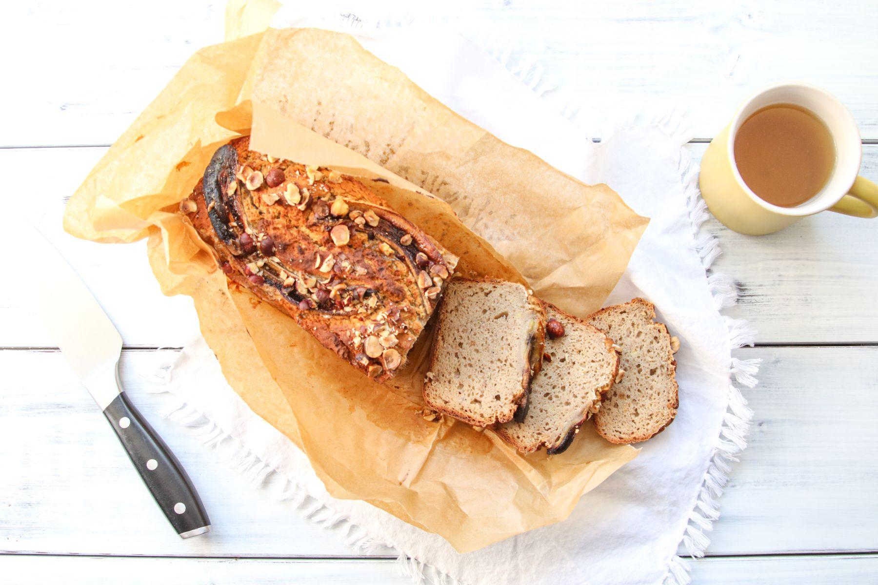 Banánový chlebíček z čirokové mouky (bez lepku)