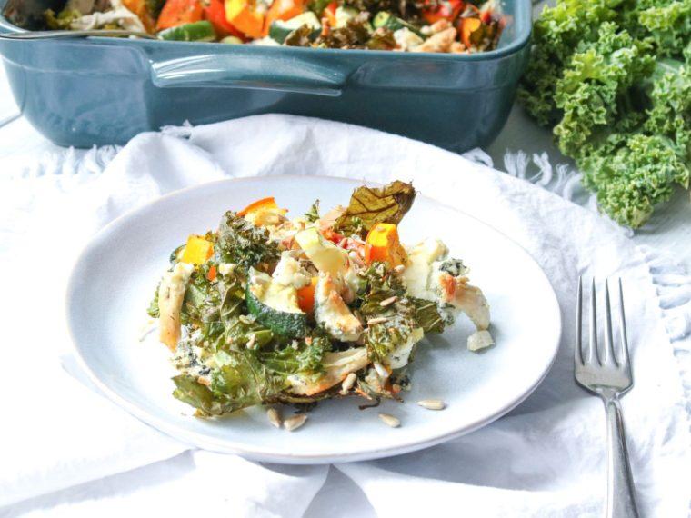 Podzimní zelenina zapečená s kuřecím masem & barevná podzimní melancholie
