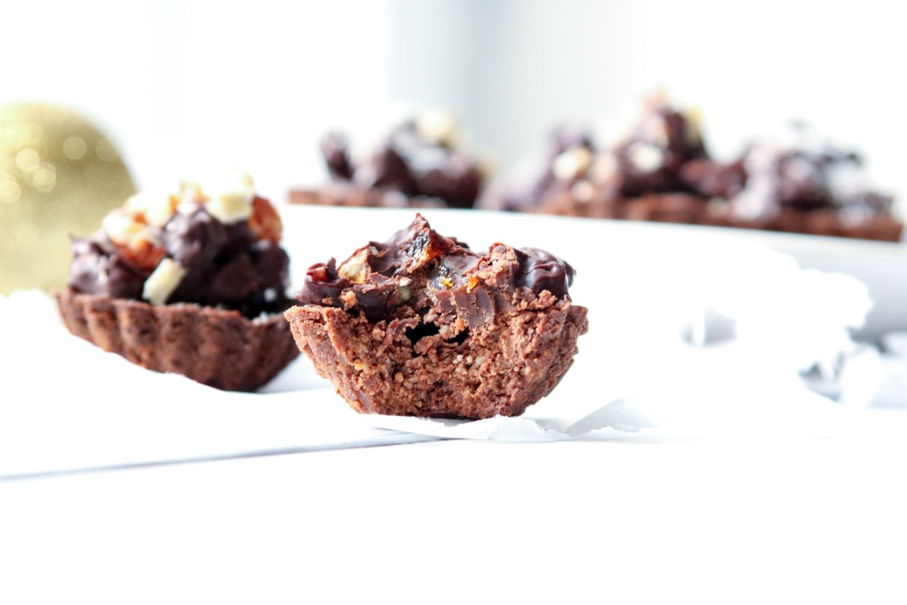 Bezlepkové čokoládové košíčky s ořechy