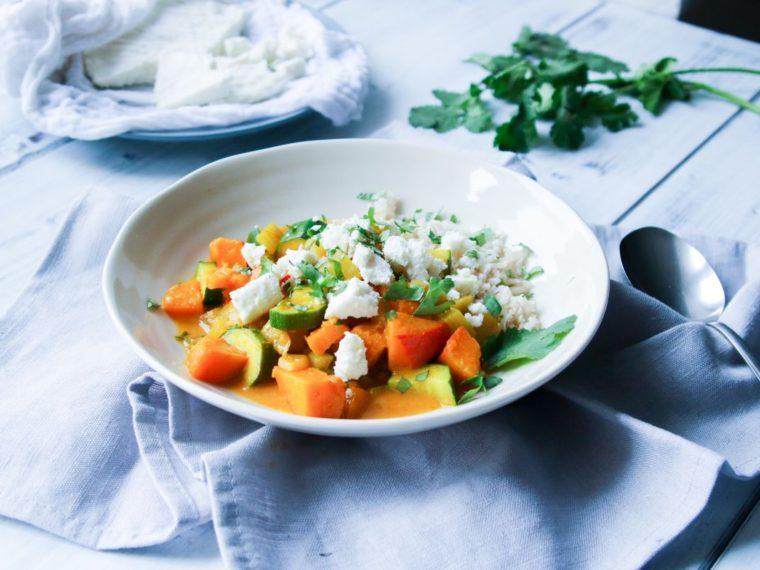 Zeleninové kari s domácím panýrem