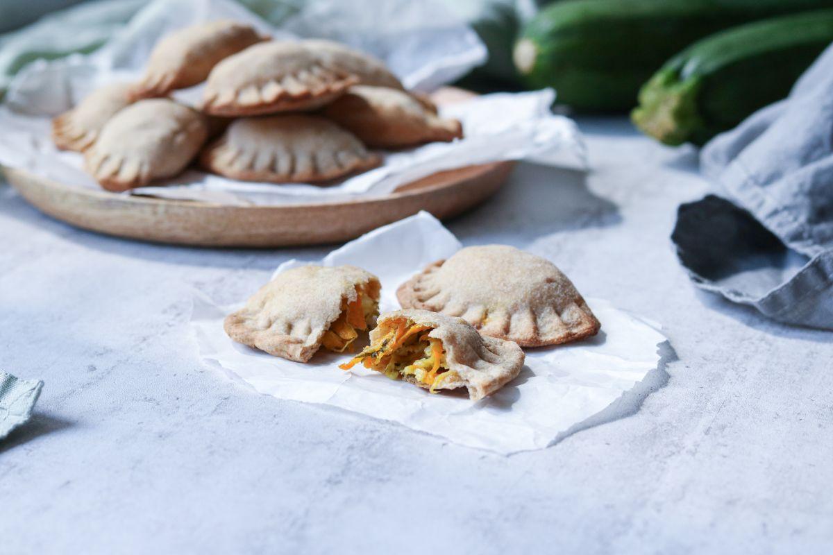 Zeleninové kapsy s balkánským sýrem