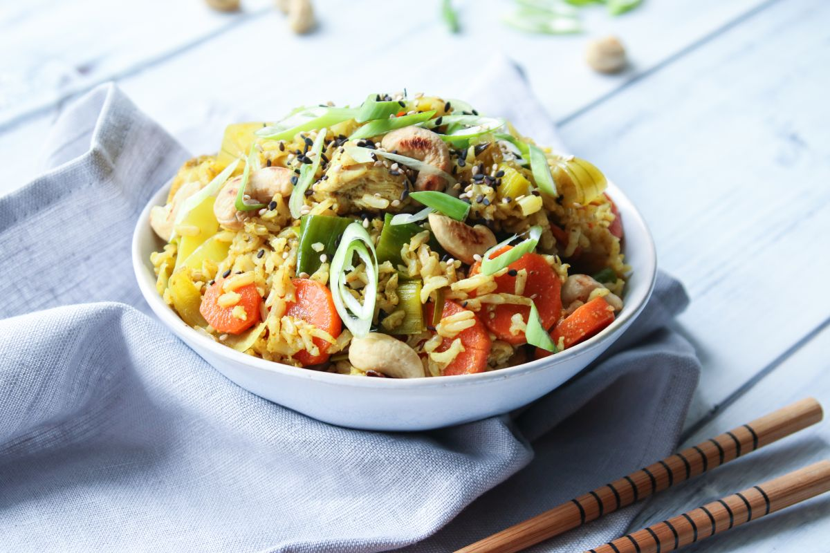 Kuře na kari s rýží