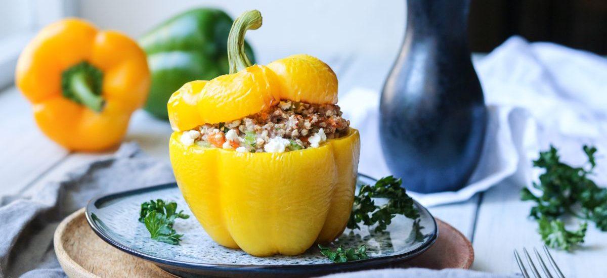 Paprika plněná pohankou a sýrem